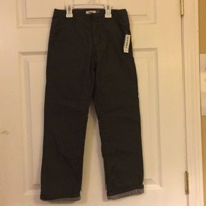 NWT Boys Flannel lined Old Navy Pants